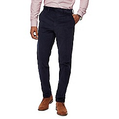 J by Jasper Conran - Big and tall navy corduroy straight leg chinos