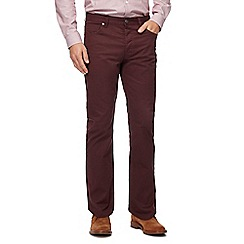 J by Jasper Conran - Big and tall dark red straight leg trousers