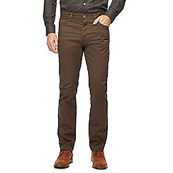 J by Jasper Conran - Khaki straight leg trousers