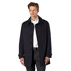 J by Jasper Conran - Big and tall designer navy bonded mac coat