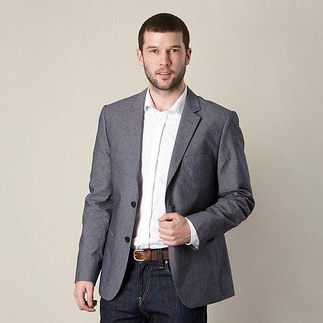 J by Jasper Conran - Designer mid blue chambray blazer