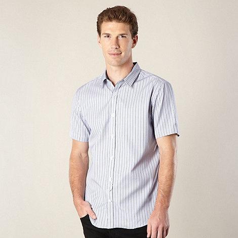 J by Jasper Conran - Designer blue textured striped shirt