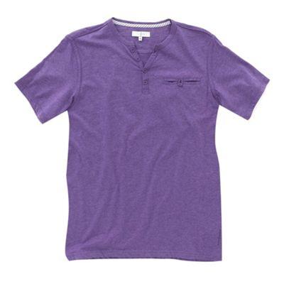 Lilac melange y-neck mens t-shirt