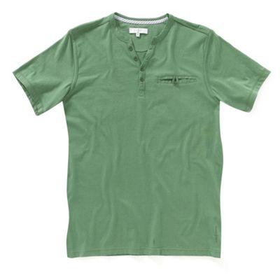 Green y-neck mens t-shirt