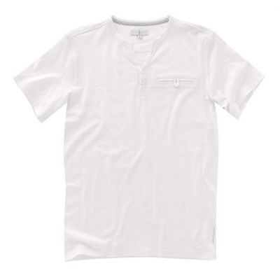 White y-neck mens t-shirt
