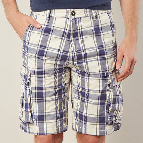 J by Jasper Conran - Designer navy checked cargo shorts