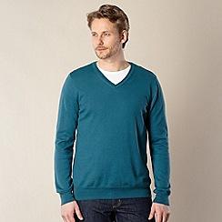J by Jasper Conran - Designer green luxury silk blend jumper