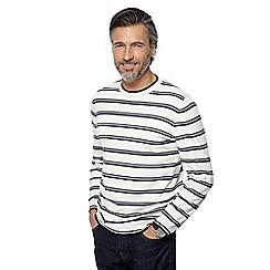 J by Jasper Conran - Big and tall natural striped jumper