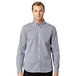 J by Jasper Conran - Big and tall designer navy gingham checked shirt