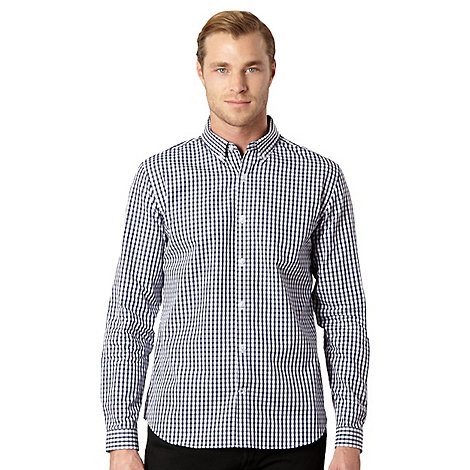 J by Jasper Conran - Designer navy gingham checked shirt