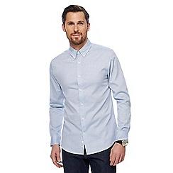 J by Jasper Conran - Light blue marl Oxford shirt