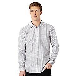 J by Jasper Conran - Big and tall designer white tattersall checked shirt