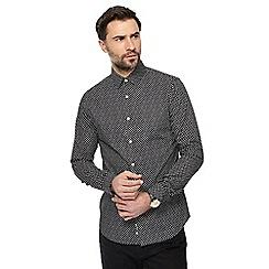 J by Jasper Conran - Black circle print shirt