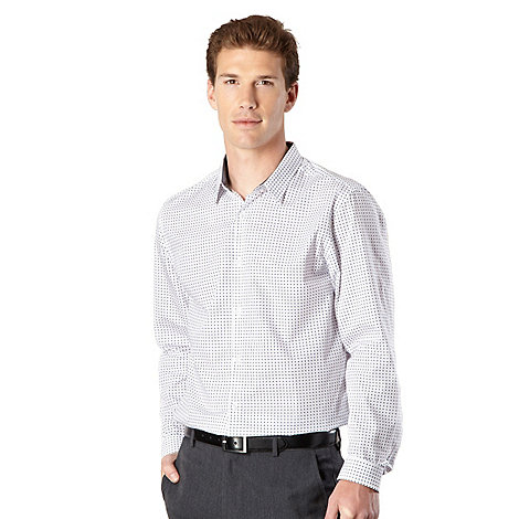 J by Jasper Conran - Designer white geo print shirt