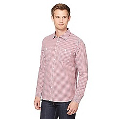 J by Jasper Conran - Big and tall designer red two pocket gingham shirt