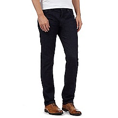J by Jasper Conran - Big and tall designer dark blue slim fit jeans