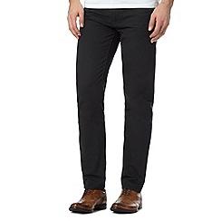 J by Jasper Conran - Designer black flat front twill trousers