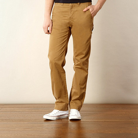 J by Jasper Conran - Designer dark tan twill trousers