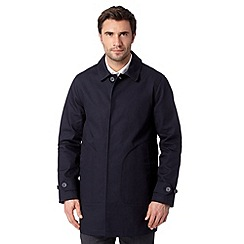 J by Jasper Conran - Big and tall designer navy collar mac
