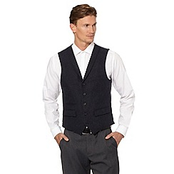 J by Jasper Conran - Designer navy herringbone waistcoat