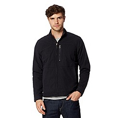 J by Jasper Conran - Big and tall designer navy funnel neck harrington jacket