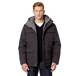 J by Jasper Conran - Big and tall designer grey padded parka jacket