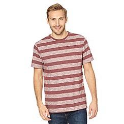 J by Jasper Conran - Big and tall designer wine block striped t-shirt
