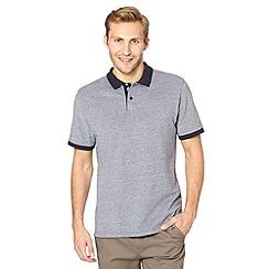 J by Jasper Conran - Big and tall designer navy pique polo shirt