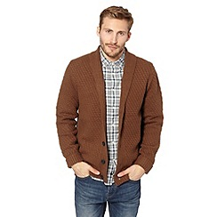 J by Jasper Conran - Designer brown knitted cardigan