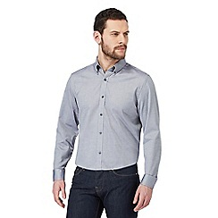 J by Jasper Conran - Big and tall designer navy oxford shirt