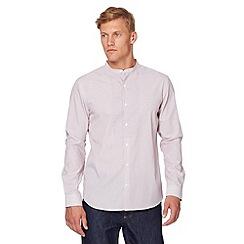 J by Jasper Conran - Designer red fine striped grandad shirt