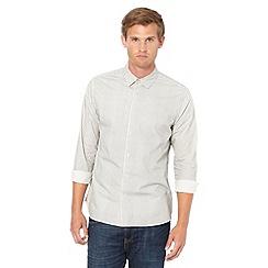 J by Jasper Conran - Big and tall designer off white geometric triangle print shirt