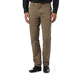 J by Jasper Conran - Designer light brown waffle texture trousers