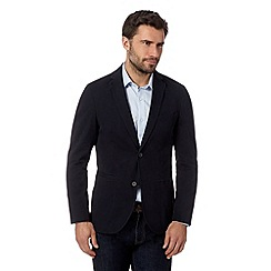 J by Jasper Conran - Designer navy soft canvas blazer
