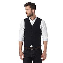 J by Jasper Conran - Designer navy cotton waistcoat