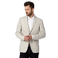 J by Jasper Conran - Designer taupe cotton linen blend blazer