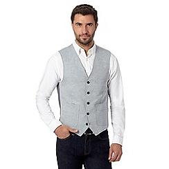 J by Jasper Conran - Designer mid blue linen blend waistcoat