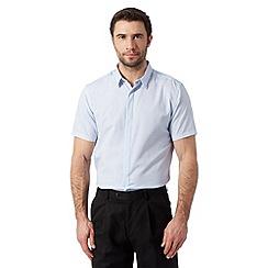 J by Jasper Conran - Designer blue textured short sleeved shirt