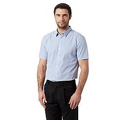 J by Jasper Conran - Designer mid blue gingham checked shirt