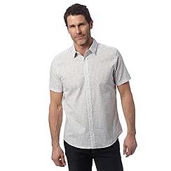J by Jasper Conran - Designer off white matchstick print shirt