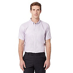 J by Jasper Conran - Big and tall designer lilac simple pin dot shirt