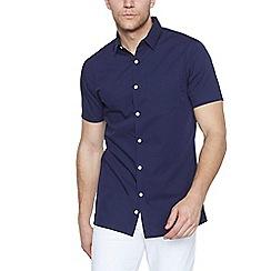 J by Jasper Conran - Designer navy revere collar shirt