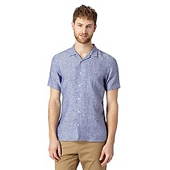 J by Jasper Conran - Big and tall designer mid blue revere collar shirt