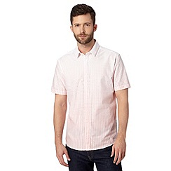 J by Jasper Conran - Designer pink graduated print short sleeved shirt