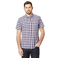 J by Jasper Conran - Designer blue grid checked shirt