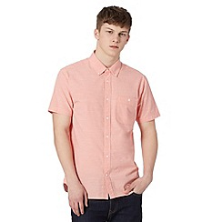 J by Jasper Conran - Designer pink fine striped short sleeved shirt