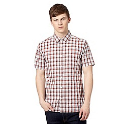J by Jasper Conran - Big and tall designer brick red space dye checked shirt