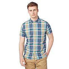 J by Jasper Conran - Designer green checked short sleeved shirt