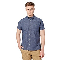 J by Jasper Conran - Designer denim effect short sleeved shirt