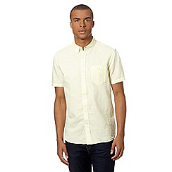 J by Jasper Conran - Big and tall designer light yellow short sleeved shirt